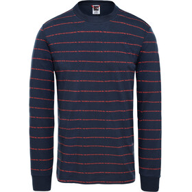 The North Face Stripes - T-shirt manches longues Homme - rouge/bleu